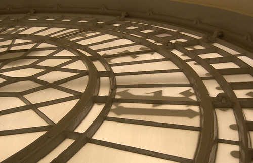 Internal view of one of the clock faces