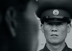 DMZ: North Vs South (Eric Lafforgue) Tags: pictures travel soldier army photo asia military picture korea kimjongil korean soldiers asie coree dmz militaire soldat northkorea armee nk ideology axisofevil dictatorship panmunjom  eastasia  dprk  coreadelnorte stalinist soldats juche kmz kimilsung panmunjeom northkorean nordkorea lafforgue  democraticpeoplesrepublicofkorea  ericlafforgue   koreanpeninsula coredunord  coreadelnord koreandemilitarizedzone   dpkr northcorea 9071 juchesocialistrepublic coreedunord rdpc  stalinistdictatorship jucheideology insidenorthkorea  rpdc   demokratischevolksrepublik coriadonorte northkoreanarmy  armeenordcoreenne coreiadonorte