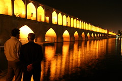 Si-o-Seh Bridge at night (**El-Len**) Tags: travel bridge architecture night river lights arch iran persia esfahan isfahan zayandeh fav10 multilevel sioseh worldwidetravelogue andromeda50