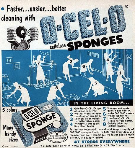 1953 Woman's Day ads O-Cel-O Sponges