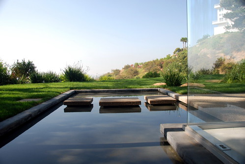 Singleton House, Reflecting Pool, Richard Neutra, Architect,  Timothy Campbell, (Remodel) 2007 by Michael Locke