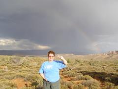 love n peace under the rainbow (wimomz/kari) Tags: utah moab archesnationalpark june08 wimomz