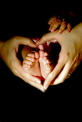 You Are My Heart (edited) - Explored !!! (Shakir's Photography) Tags: love feet girl kid child hand heart daughter mother care hold                                       theunforgettablepictures
