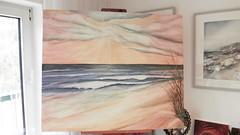 Strand Ruth (Galerie-Gensert) Tags: strand meer sonnenuntergang himmel wolken acryl malerei leinwand gemälde grosleinwand anjagensert galeriegensert strandipressinen ateliergensert himmelundmeer