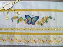 Borboletas amarelas (Lila Bordados em Ponto Cruz) Tags: decoração cozinha bordado pontocruz panosdeprato