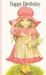 happy birthday pink girl (lorryx3) Tags: birthday pink boots holly card patchwork bonnet hollyhobbiewannabe puffsleves