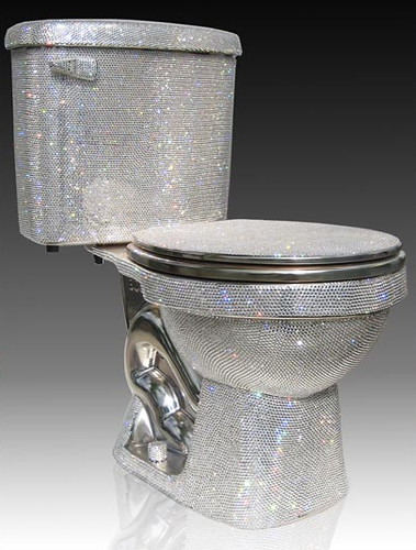 diamond toilet