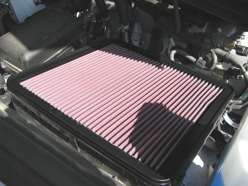 K&N air filter installed.