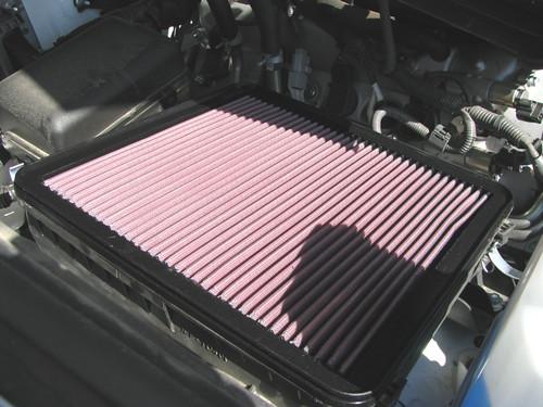 K&N air filter installed.