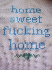 A Little Light Stitching (The Bellwether) Tags: sampler handmade embroidery interior subversive homeware misofunky emobroidery homesweetfuckinghome