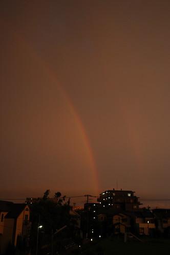 虹 よく見ると二重