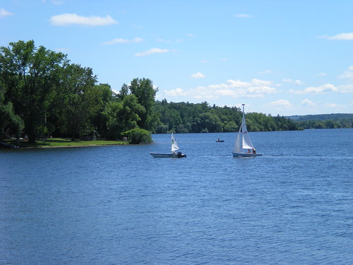 summer lake water sailboats lakeboardman