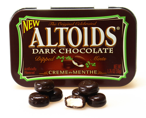 Chocolate Dipped Alitoids Creme de Menthe
