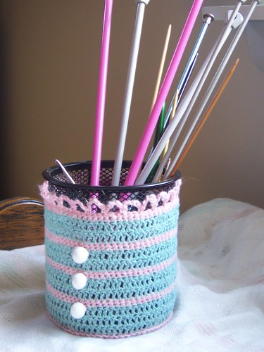 Crochet container cover