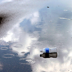 Different States of Water (Jay:Dee) Tags: reflection water clouds litter raindrops bigmomma photofaceoffwinner pfogold thechallengefactory