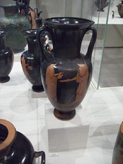 Nolan neck-amphora (jar): Woman pouring libation for Athena (peterjr1961) Tags: nyc newyorkcity newyork art museum greek met themet metropolitanmuseumofart