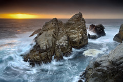 Point Lobos - Pinnacle Rock #1 (PatrickSmithPhotography) Tags: california travel sunset sea wallpaper vacation seascape beach nature rock monterey bravo seascapes bigsur wave carmel pebblebeach pacificgrove asilomar pointlobos hdr carmelbythesea californialandscape landscapephotography montereypeninsula pointjoe gorillapod californiaseascape photocontesttnc08 oraclex seascapephotogaphy obramaestra
