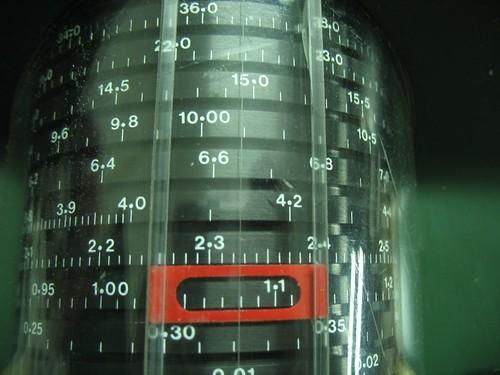 Imagen del dial giratorio en donde se selecciona la atenuación deseada.
