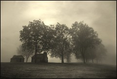 Valley Forge - A Soft Morning (mikonT) Tags: mist fog nikon searchthebest huts soe valleyforge d300 themoulinrouge imagepoetry nikon175