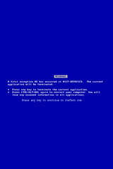 Blue Screen of Death - vertical