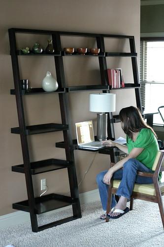 New ladder shelves