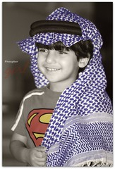 Arabian style... ( pP-) Tags: blue red cute girl yellow kid superman phosphor superadorable a7mad 3tra 38al