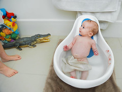 gemma guards the baby while the crocodile tries to slip out unnoticed. (sesame ellis) Tags: baby girl nikon infant child d3 ppm mykid2 racheldevine wwwracheldevinecom cyear1 sesameellisbasicsactionset sedps