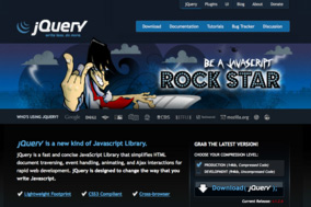 jQuery Homepage Screenshot