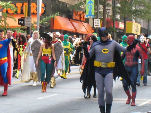 Superheroes in the parade