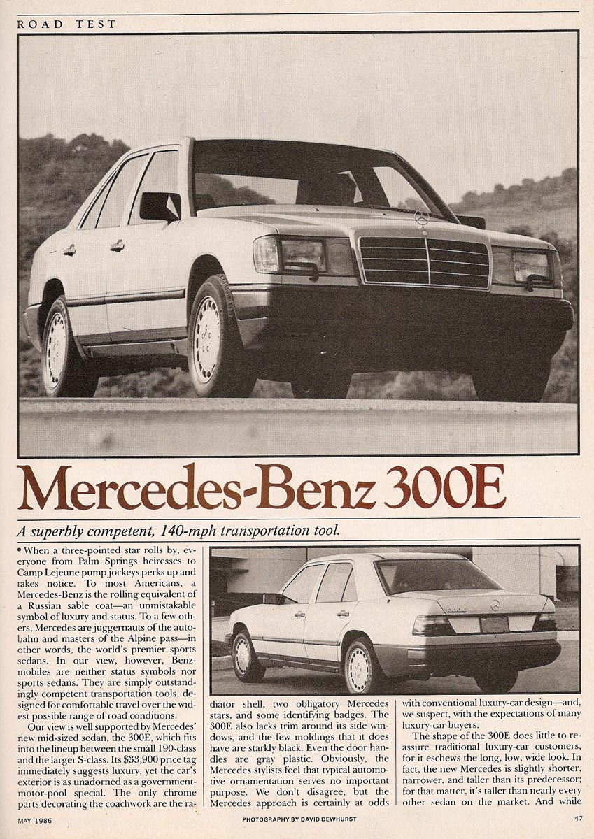 Test Mercedes W124 300E