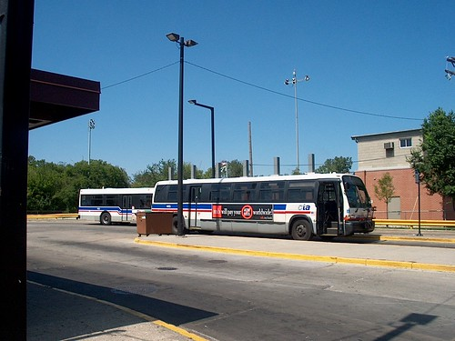 the north terminal loop for the Chicago transit Authority Route # 82 Kimball /Homan Avenue bus line at West Devon and North Kedzie Avenues. Chicago Illinois. september 2006. by Eddie from Chicago