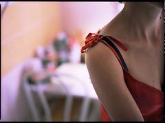 - (clabougni / Antoine Chaffiol) Tags: red portrait color 120 mamiya film kitchen analog mediumformat 645 medium portra mamiya645 argentique 400vc moyenformat nux toinux clabougni antoinechaffiol