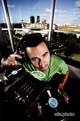 Dj Derezon 03 (ultraberlin) Tags: blue sky music berlin green window club photography photo dj foto fotografie bluesky turntable headphones windowview hiphop nightlife colourful bunt wia photodesign oliwia owia fotodesign oliverwia ultraberlin derezon djderezon 40second