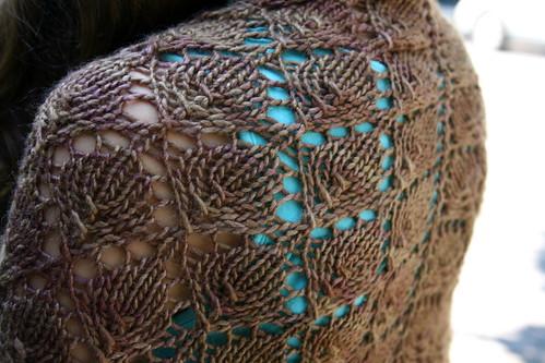 Forest Canopy Shawl in Malabrigo Silky Merino 'Acorn'
