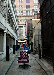 broker (nardell) Tags: money philadelphia office chair alley fortune pa dumpsters foundobjects economy economics broke broker securities misfortune backalleys emptychairs bailout financialcrisis