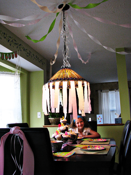 sophia at birthday table