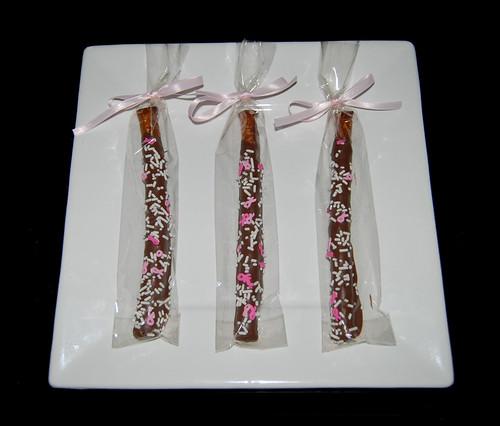 pink ribbon pretzels