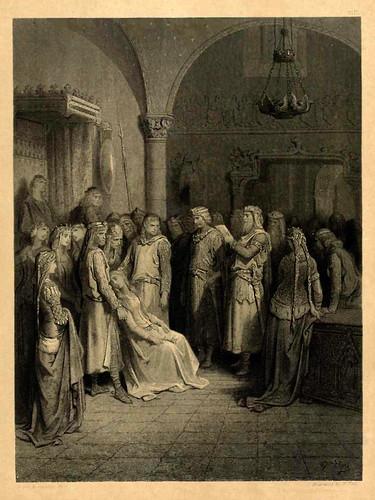 08-El rey Arturo leyendo la carta de Elena