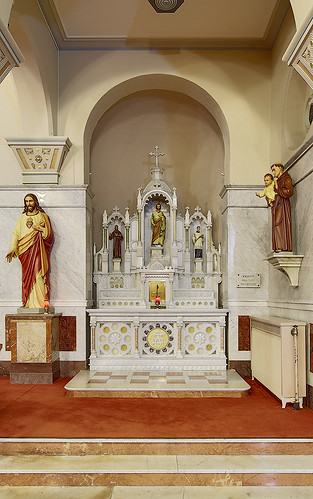 Saint Mary Roman Catholic Church, in Carlyle, Illinois, USA - altar of Saint Joseph