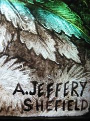 [151] Brampton Bierlow : A Jeffery (Budby) Tags: church window monogram signature stainedglass makersmark rotherham southyorkshire westmelton bramptonbierlow