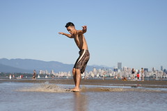 Me skim boarding 8 (photos.by.ed) Tags: beach vancouver spanishbanks skimboarding