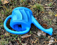 Alone (BACKYard Woods Explorer) Tags: trash woods plastic wateringpot