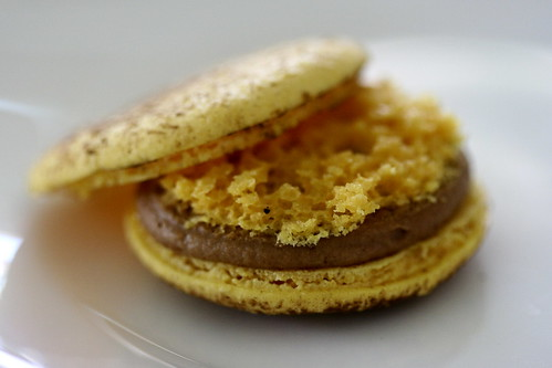 macaron in passionfruit