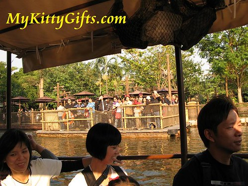 Hello Kitty's View of Raft to Tarzan's Treehouse in Adventureland, Hong Kong Disneyland
