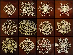 Snowflake making fun (-Lori-) Tags: winter paper snowflakes crafts papercutting myfingershurt 20082009