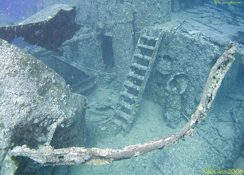 Sunken Oil Rig Underwater
