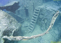 SS Thistlegorm - Stairs to main deck