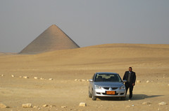 Drive the New 2008 Dodge Sandblaster (Globe Trodden) Tags: cars desert egypt pyramids redpyramid