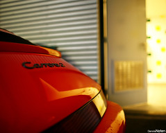 CARRERA 2. (Denniske) Tags: christmas xmas red 2 cars coffee field digital canon rouge eos december dof 21 bokeh f14 14 den 911 special cc porsche and l 5d mm 12 dennis stadion haag 35 ado 2008 rood rosso depth ef 08 carrera 964 noten carspotting of carscoffee cmwdred denniske dennisnoten kersteditie
