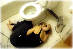 Hello 2009 (Evil Erin) Tags: bathroom toilet newyear sick budlight heartburn washroom calamari january1st fetalposition nausea indigestion diarrhea upsetstomach 365days